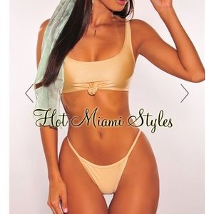 Hot Miami styles glistening tie up knot bikini